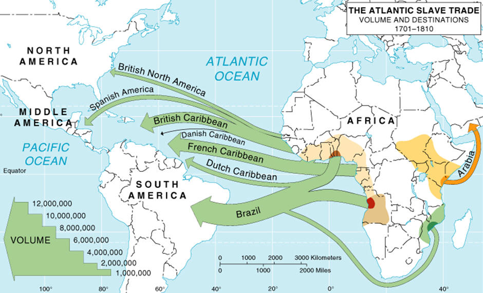 Trade Map Of Africa UWEC geography 111 Vogeler   West African Slave Trade Map