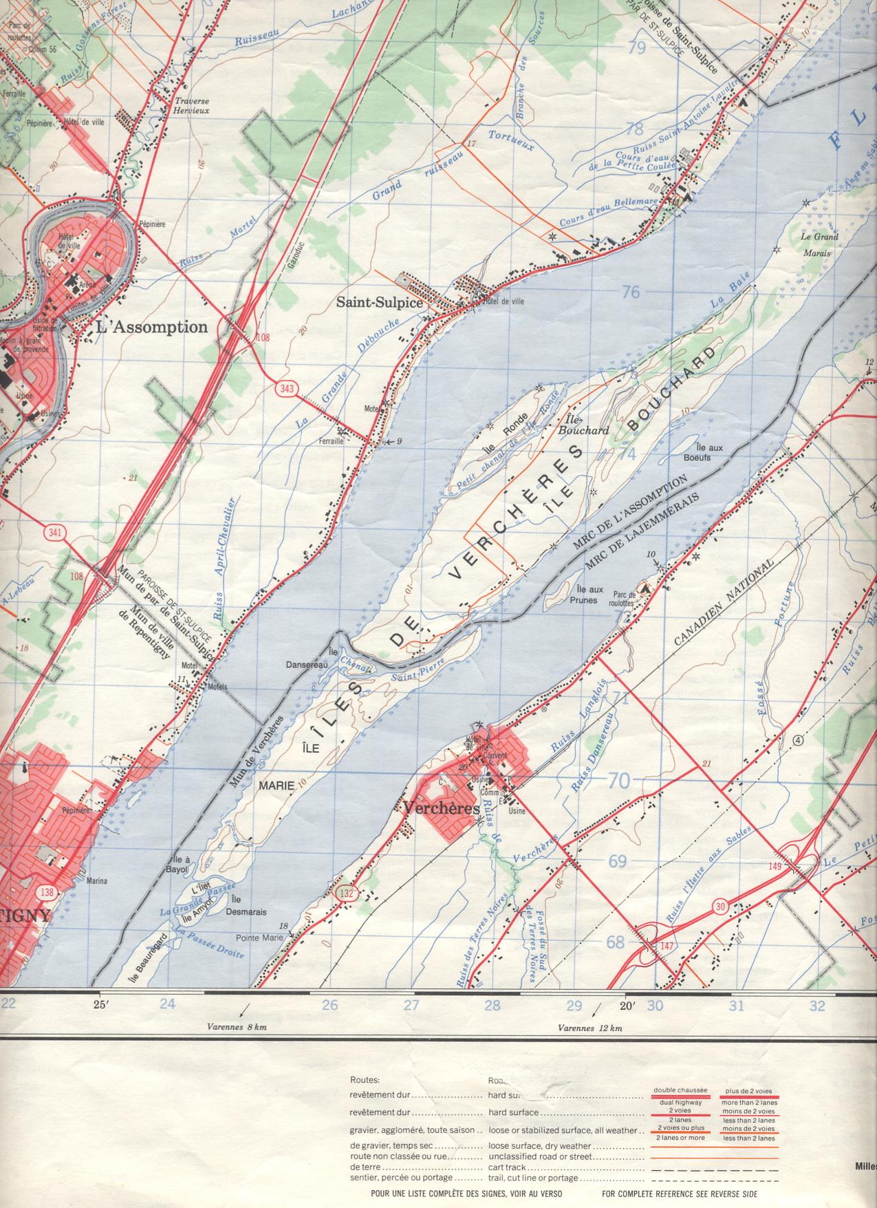 Uwec geog188 vogeler topographic maps french canada the topographic map assignment that deals with vercheres quebec province 150000 shows very interesting things about the french canadian landscape gumiabroncs Gallery