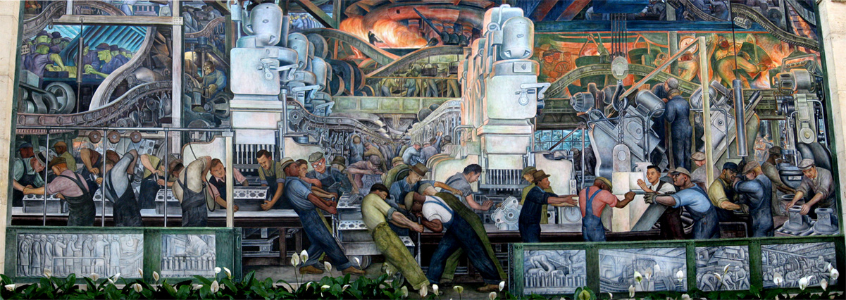 Dearborn ford motor murals for Diego rivera mural detroit