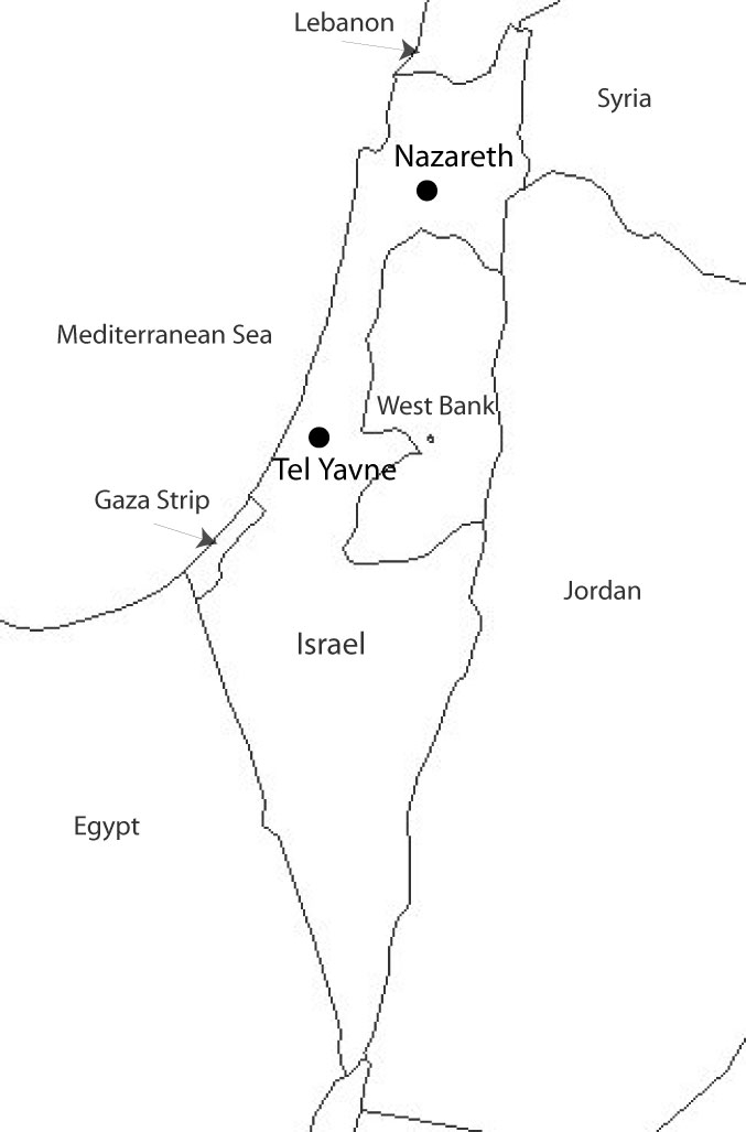 Blank Map Of Israel Israel Map