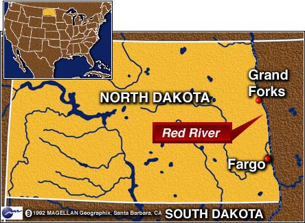 New Page - North dakota rivers map