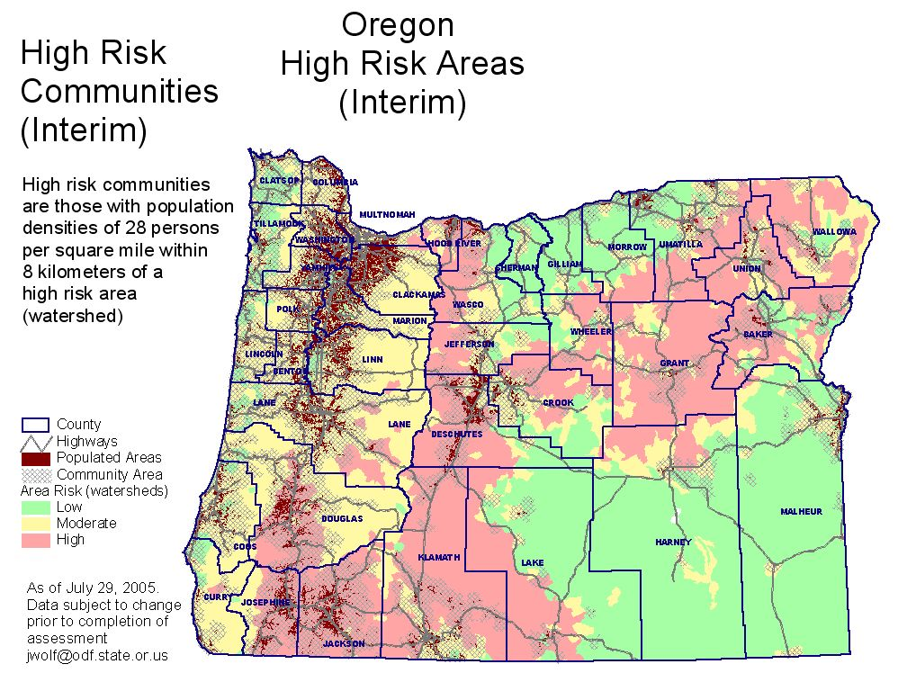 Oregon Fire Map ~ EXODOINVEST