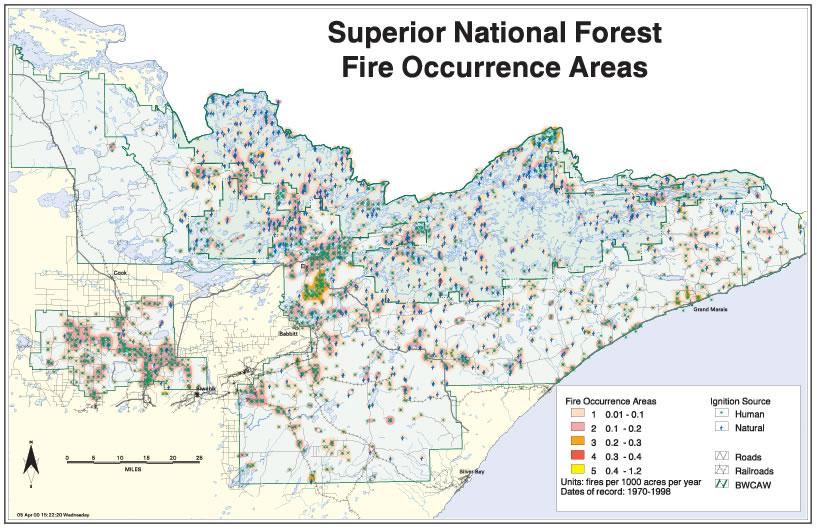 Bwca Fire Map.Boundary Waters